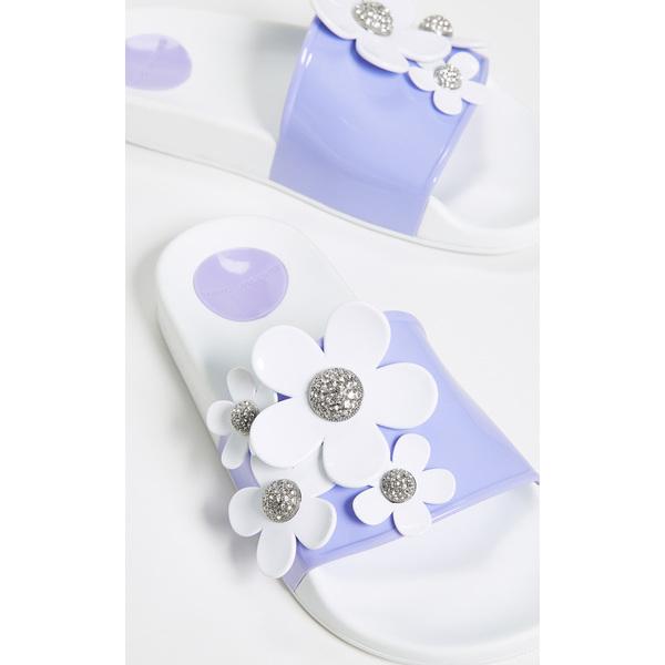 (取寄)マークジェイコブス レディース デイジー パヴェ アクア スライド サンダル Marc Jacobs Women's Daisy Pave Aqua Slide Sandals LavenderMulti