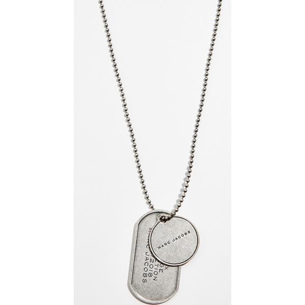 (取寄)マークジェイコブス クロスボディ ドッグ タグ ネックレス Marc Jacobs Crossbody Dog Tag Necklace AntiqueSilver