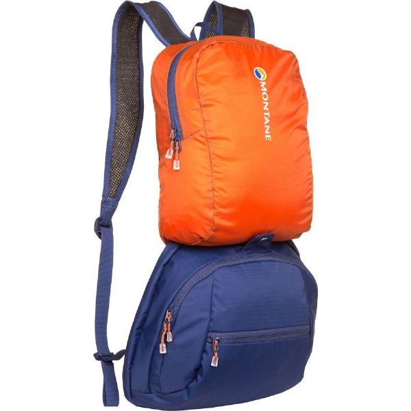 (取寄)モンテイン ユニセックス サミット ツアー 50+15L バックパック Montane Men's Summit Tour 50+15L Backpack Antarctic Blue/Tangerine