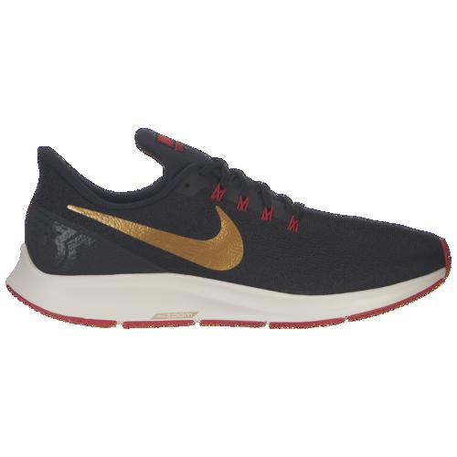 (取寄)ナイキ メンズ エア ズーム ペガサス 35 Nike Men's Air Zoom Pegasus 35 Black Metallic Gold University Red