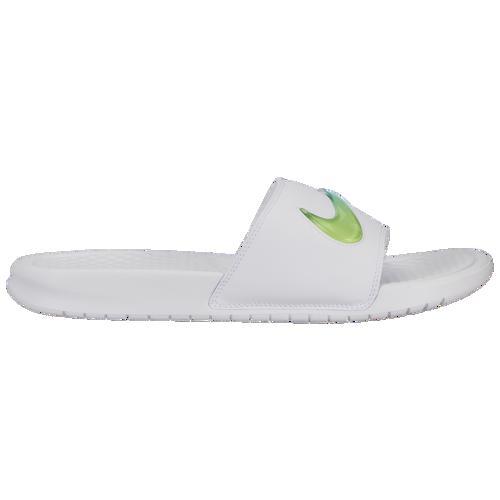 (取寄)ナイキ メンズ ベナッシ JDI SE スライド Nike Men's Benassi JDI SE Slide White Hyper Jade Volt