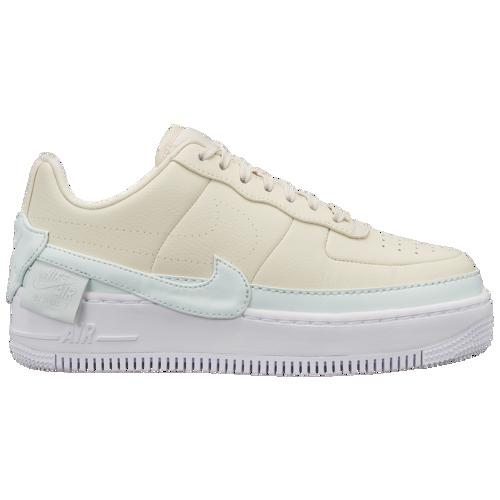(取寄)ナイキ レディース エア フォース 1 ジェスター Nike Women's Air Force 1 Jester Light Cream Ghost Aqua White