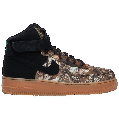 (取寄)ナイキ メンズ エア フォース 1 ハイ LV8 Nike Men's Air Force 1 High LV8 Black Black Aloe Verde Gum Medium Brown