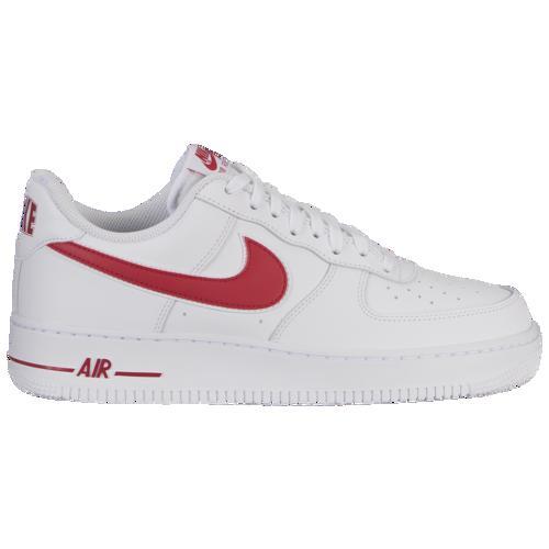 (取寄)ナイキ メンズ エア フォース 1 ロー Nike Men's Air Force 1 Low White Gym Red