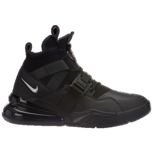 (取寄)ナイキ メンズ エア フォース 270 ユーテリティ Nike Men's Air Force 270 Utility Black Black Metallic Silver