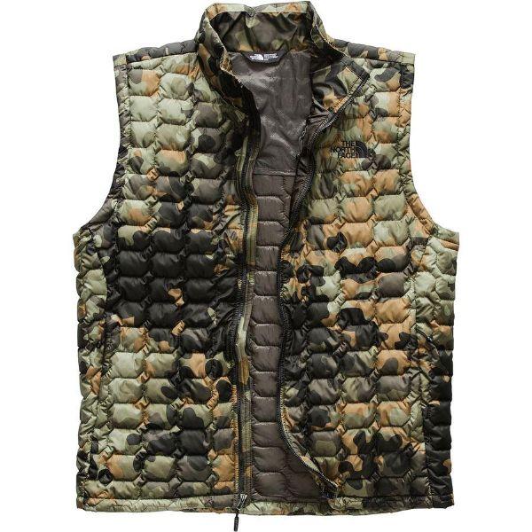 (取寄)ノースフェイス メンズ ThermoBall インサレーテッド ベスト The North Face Men's ThermoBall Insulated Vest New Taupe Green Macrofleck Camo Print