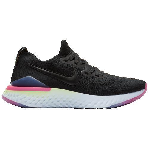 (取寄)ナイキ レディース エピック リアクト フライニット 2 Nike Women's Epic React Flyknit 2 Black Sapphire Lime Blast Hyper Pink Blue Tint