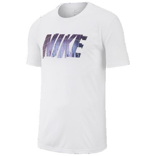 (取寄)ナイキ メンズ レジェンド ショート スリーブ ブロック Tシャツ Nike Men's Legend Short Sleeve Block T-Shirt White