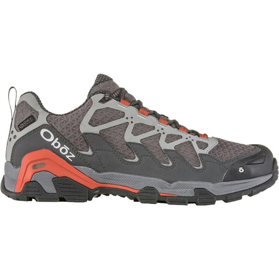 (取寄)オボズ メンズ シルク ロウ B-Dry ハイキングシューズ Oboz Men's Cirque Low B-Dry Hiking Shoe Pewter/Burnt Orange