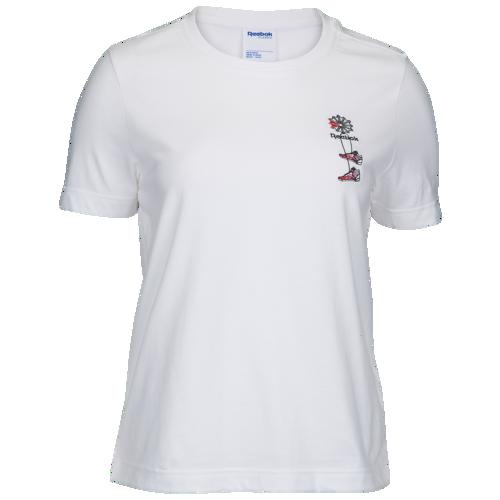 (取寄)リーボック レディース クラシック シュー Tシャツ Reebok Women's Classic Shoe T-Shirt White