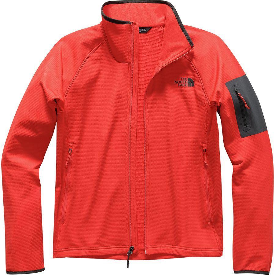 (取寄)ノースフェイス メンズ ボアード フリース ジャケット The North Face Men's Borod Fleece Jacket Fiery Red/Asphalt Grey