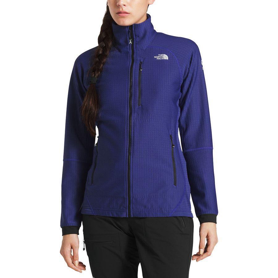 (取寄)ノースフェイス レディース サミット L2ヒューズフォーム グリッド フリース ジャケット The North Face Women Summit L2 Fuseform Grid Fleece Jacket Inauguration Blue