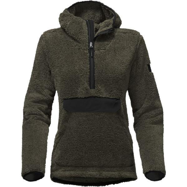 (取寄)ノースフェイス レディース Campshire フーデッド プルオーバー フリース ジャケット The North Face Women Campshire Hooded Pullover Fleece Jacket New Taupe Green