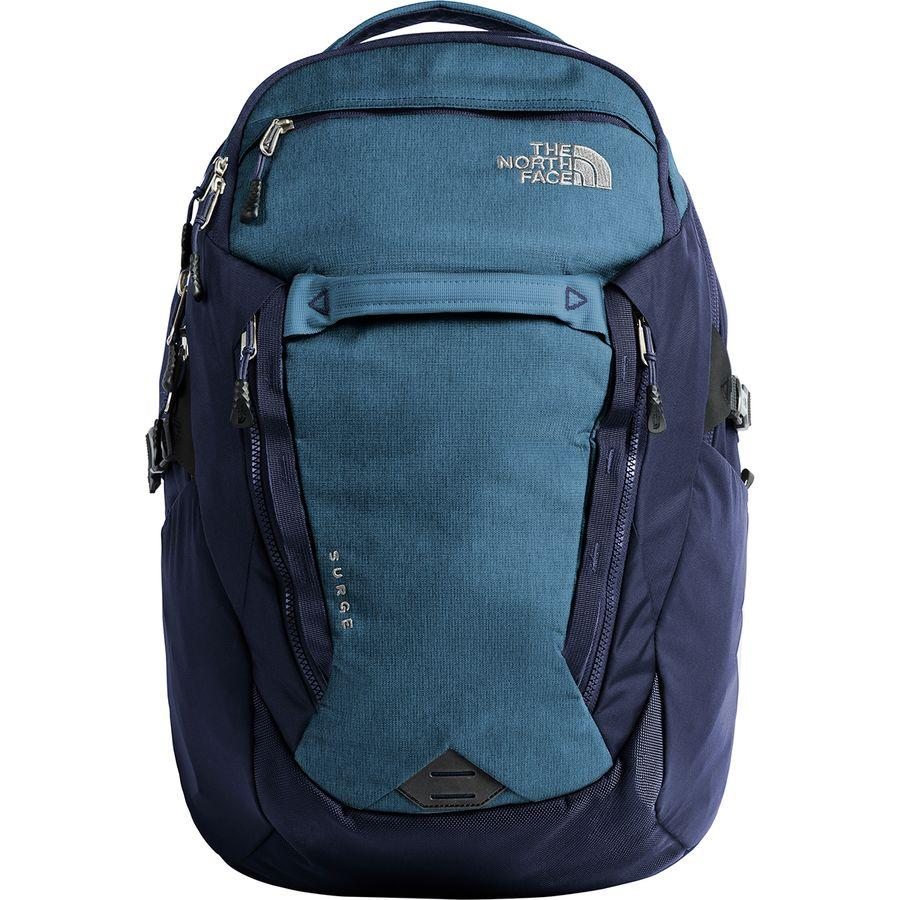 (取寄)ノースフェイス サージ 31L バックパック The North Face Men's Surge 31L Backpack Dish Blue Light Heather/Urban Navy