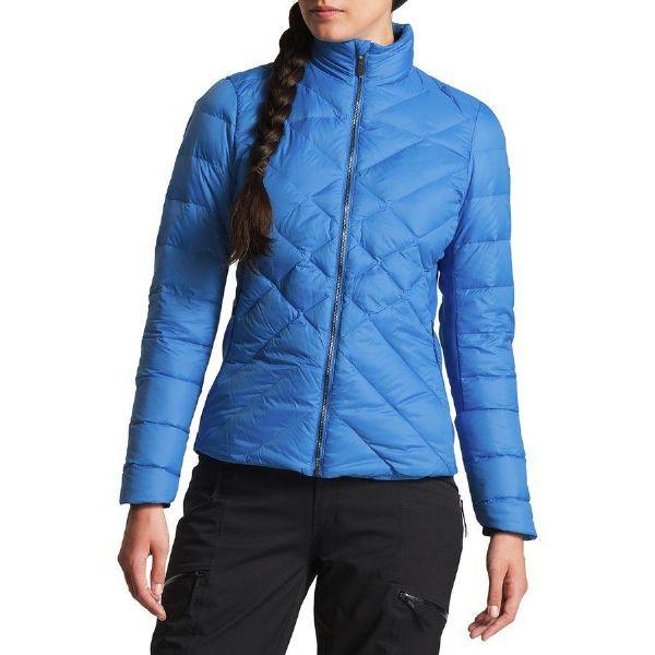 (取寄)ノースフェイス レディース ルチア ハイブリッド ダウン ジャケット The North Face Women Lucia Hybrid Down Jacket Bomber Blue