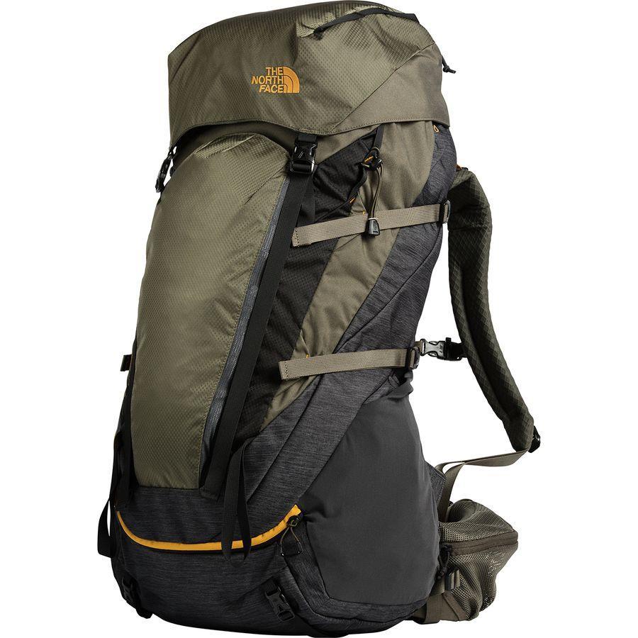 (取寄)ノースフェイス テラ 65L バックパック The North Face Men's Terra 65L Backpack Tnf Dark Grey Heather/New Taupe Green