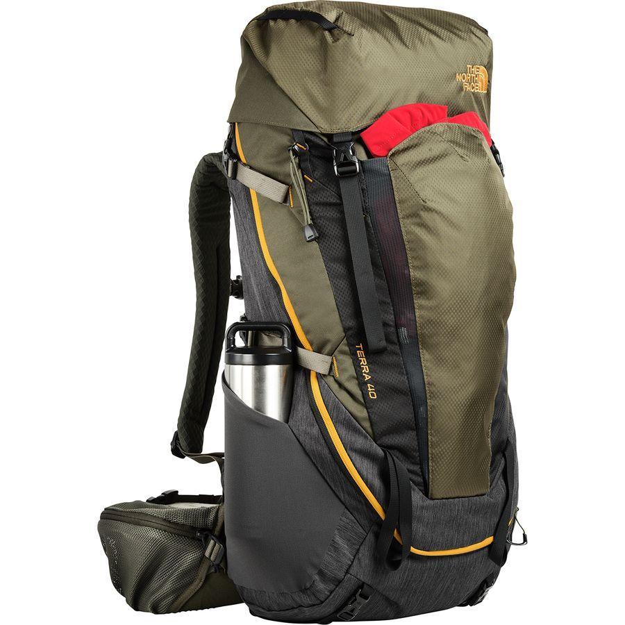 (取寄)ノースフェイス テラ 40L バックパック The North Face Men's Terra 40L Backpack Tnf Dark Grey Heather/New Taupe Green