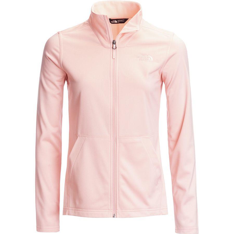 (取寄)ノースフェイス レディース テック メッザルーナ フルジップ フリース ジャケット The North Face Women Tech Mezzaluna Full-Zip Fleece Jacket Pink Salt Heather