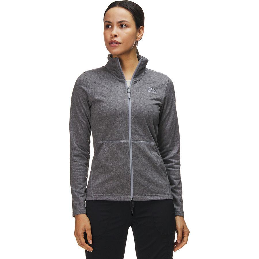 (取寄)ノースフェイス レディース テック メッザルーナ フルジップ フリース ジャケット The North Face Women Tech Mezzaluna Full-Zip Fleece Jacket Tnf Medium Grey Heather