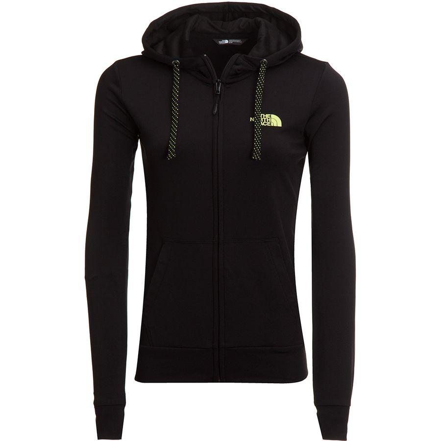 (取寄)ノースフェイス レディース フェイブ ライト LFC フルジップ パーカー The North Face Women Fave Lite LFC Full-Zip Hoodie Tnf Black/Exotic Green