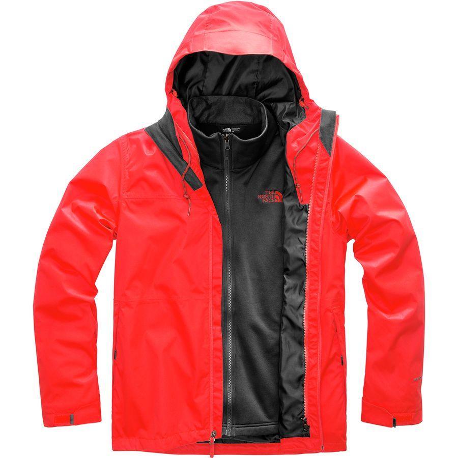 【エントリーでポイント10倍】(取寄)ノースフェイス メンズ アロウッド トリクラメイト スリーインワン ジャケット The North Face Men's Arrowood Triclimate 3-in-1 Jacket Fiery Red
