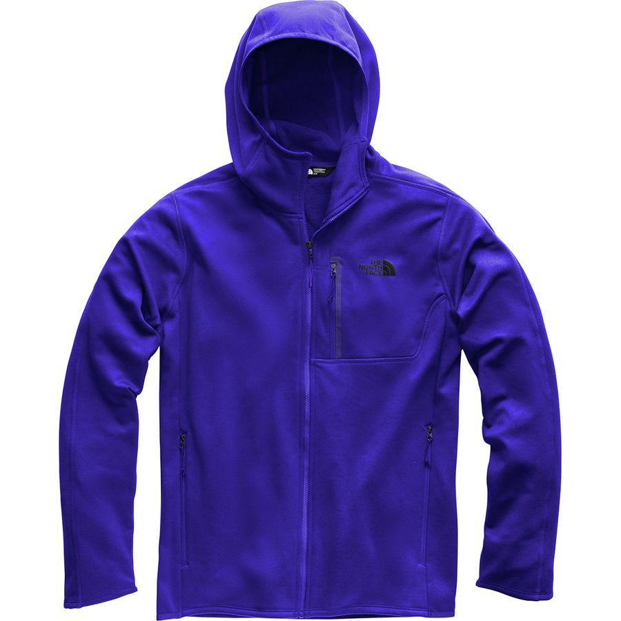 (取寄)ノースフェイス メンズ キャニオンランズ フーデッド フリース ジャケット The North Face Men's Canyonlands Hooded Fleece Jacket Aztec Blue