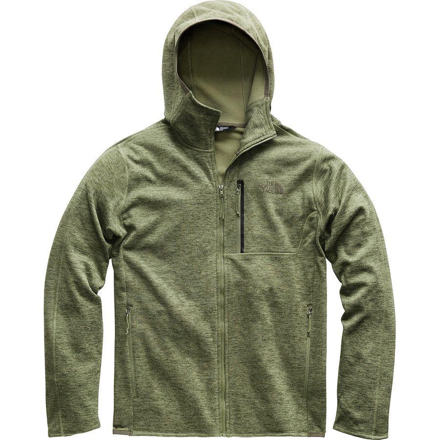 (取寄)ノースフェイス メンズ キャニオンランズ フーデッド フリース ジャケット The North Face Men's Canyonlands Hooded Fleece Jacket Four Leaf Clover Heather