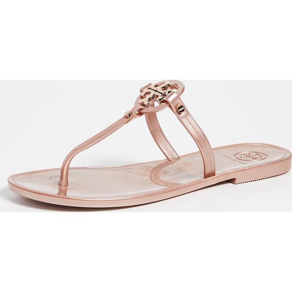 (取寄)トリーバーチ レディース ミニ ミラー フラッツ トング サンダル Tory Burch Women's Mini Miller Flat Thong Sandals RoseGold
