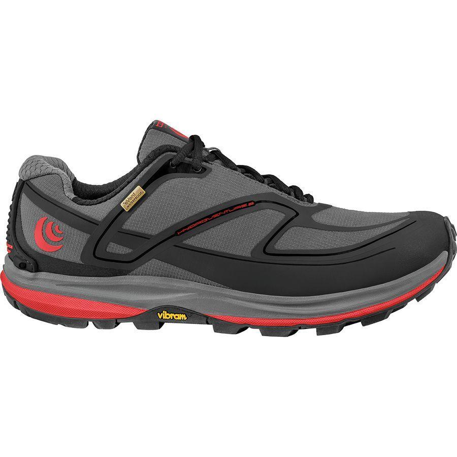 【マラソン ポイント10倍】(取寄)トポアスレチック メンズ ハイドロベンチャー 2 トレイル ランニングシューズ Topo Athletic Men's Hydroventure 2 Trail Running Shoe Charcoal/Red