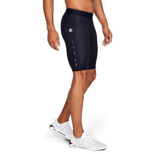 (取寄)アンダーアーマー メンズ リカバリー コンプレッション ショーツ Underarmour Men's Recovery Compression Shorts Black Metallic Silver