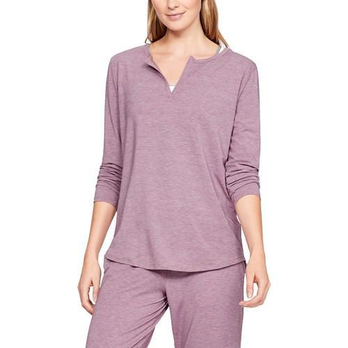 (取寄)アンダーアーマー レディース リカバリー スリープウェア ロング スリーブ Underarmour Women's Recovery Sleepwear Long Sleeve Purple Fade Heather