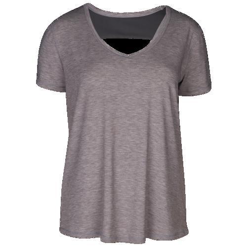 (取寄)アンダーアーマー レディース リカバリー スリープウェア ショート スリーブ Underarmour Women's Recovery Sleepwear Short Sleeve Grey Fade Heather