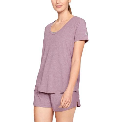 (取寄)アンダーアーマー レディース リカバリー スリープウェア ショート スリーブ Underarmour Women's Recovery Sleepwear Short Sleeve Purple Fade Heather