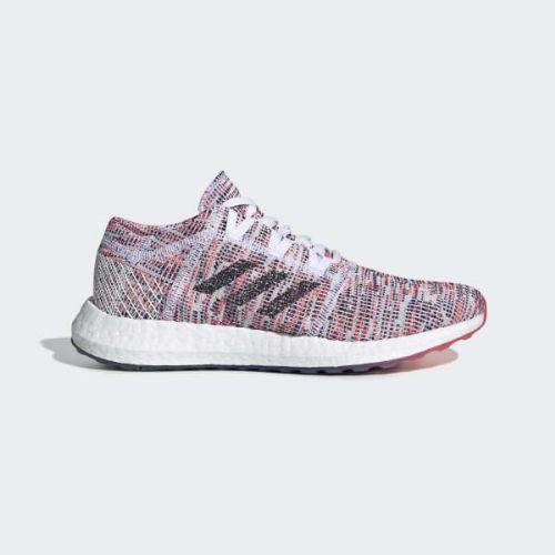 (取寄)アディダス レディース ピュアブースト ゴー ランニングシューズ adidas Women Pureboost Go Shoes Cloud White / Legend Ink / Shock Red