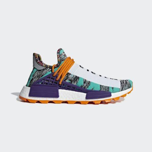(取寄)アディダス オリジナルス メンズ ファレル ウィリアムズ ソーラーHu NMD スニーカー adidas originals Men's Pharrell Williams SOLARHU NMD Shoes Hi-Res Aqua / Core Black / Black