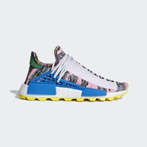 (取寄)アディダス オリジナルス メンズ ファレル ウィリアムズ ソーラーHu NMD スニーカー adidas originals Men's Pharrell Williams SOLARHU NMD Shoes Light Pink / Core Black / Bright Blue
