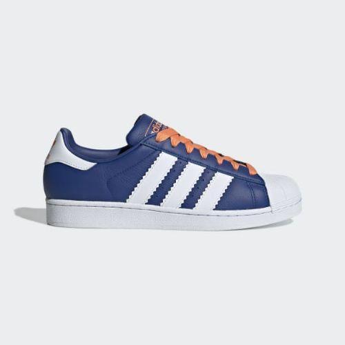 (取寄)アディダス オリジナルス メンズ スーパースター スニーカー adidas originals Men's Superstar Shoes Collegiate Royal / Cloud White / Easy Orange