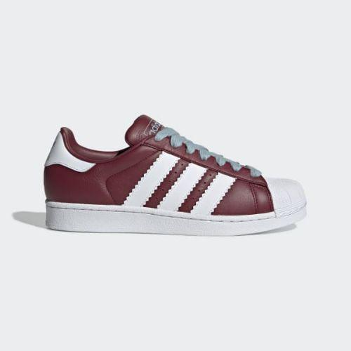 (取寄)アディダス オリジナルス メンズ スーパースター スニーカー adidas originals Men's Superstar Shoes Collegiate Burgundy / Cloud White / Ash Grey