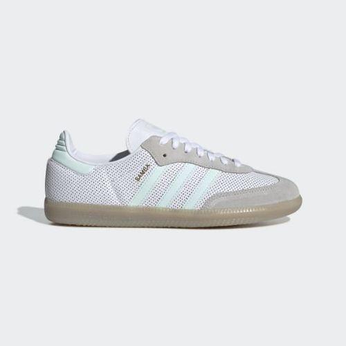 (取寄)アディダス オリジナルス レディース サンバ OG スニーカー adidas originals Women Samba OG Shoes Cloud White / Ice Mint / Grey