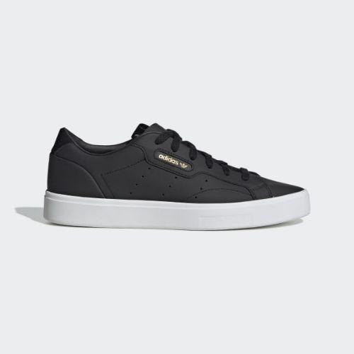 (取寄)アディダス オリジナルス レディース アディダス スリーク スニーカー adidas originals Women adidas Sleek Shoes Core Black / Core Black / Crystal White
