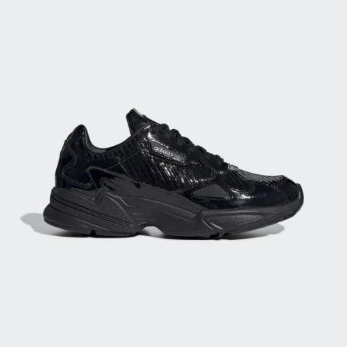 (取寄)アディダス オリジナルス レディース ファルコン スニーカー adidas originals Women Falcon Shoes Core Black / Core Black / Collegiate Purple