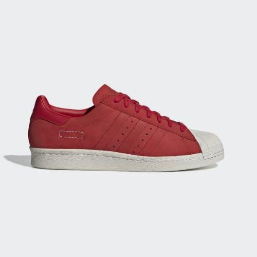 (取寄)アディダス オリジナルス メンズ スーパースター 80s スニーカー adidas originals Men's Superstar 80s Shoes Scarlet / Scarlet / Raw White