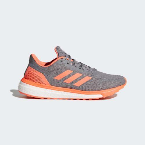 (取寄)アディダス レディース レスポンス ランニングシューズ adidas Women Response Shoes Grey / Hi-Res Orange / Cloud White
