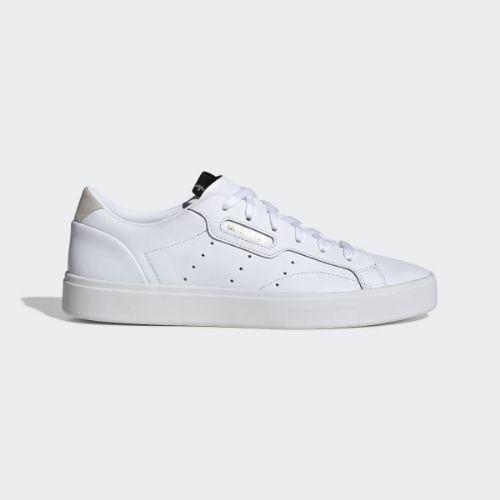 (取寄)アディダス オリジナルス レディース アディダス スリーク スニーカー adidas originals Women adidas Sleek Shoes Cloud White / Cloud White / Crystal White