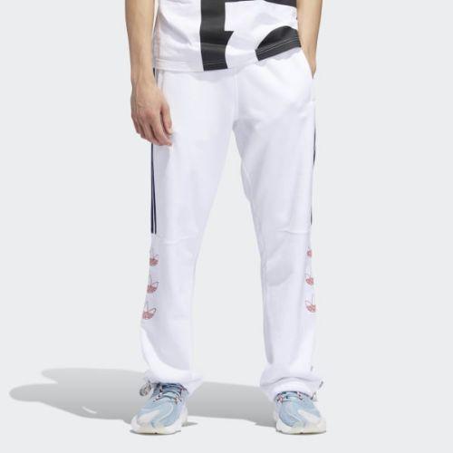 (取寄)アディダス オリジナルス メンズ ターニー トレフォイル スウェット パンツ adidas originals Men's Tourney Trefoil Sweat Pants White / Raw Amber