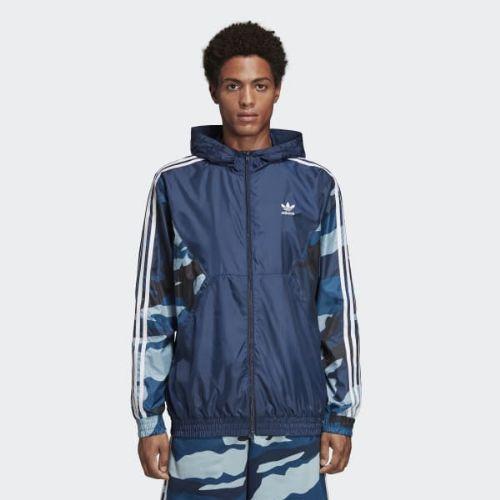 (取寄)アディダス オリジナルス メンズ カモフラージュ ウインドブレーカー ウィンドブレーカー adidas originals Men's Camouflage Windbreaker Collegiate Navy