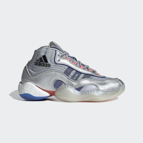 (取寄)アディダス オリジナルス メンズ 98X クレイジー BYW スニーカー adidas originals Men's 98 x Crazy BYW Shoes Silver Metallic / Powder Blue / Shock Red