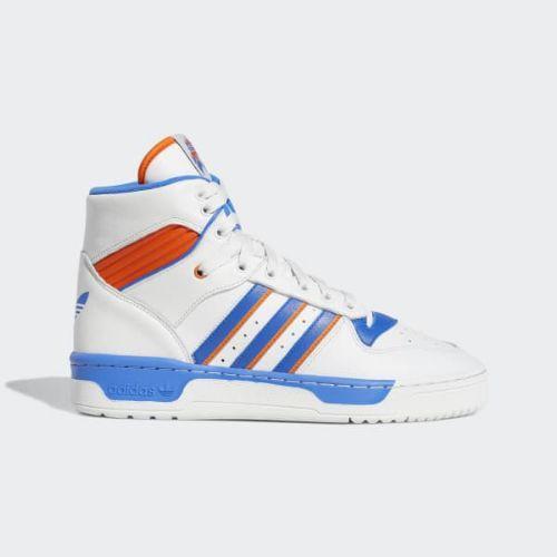 (取寄)アディダス オリジナルス メンズ ライバルリ ハイ スニーカー adidas originals Men's Rivalry High Shoes Crystal White / Blue / Orange