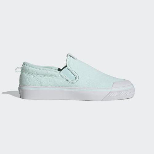 (取寄)アディダス オリジナルス レディース ニッツァ スリップ スニーカー adidas originals Women Nizza Slip Shoes Ice Mint / Ice Mint / Crystal White