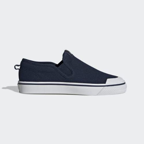 (取寄)アディダス オリジナルス レディース ニッツァ スリップ スニーカー adidas originals Women Nizza Slip Shoes Collegiate Navy / Collegiate Navy / Crystal White